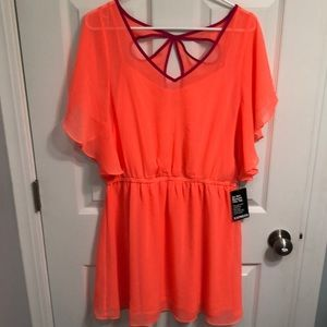 NWT! EXPRESS Flowing Sun-Dress w/Angel Wing Sleeve